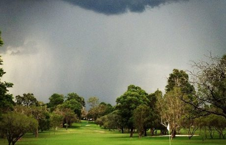 Storm at golf course